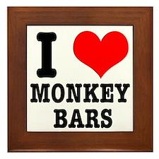 I Heart (Love) Monkey Bars Framed Tile