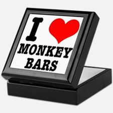 I Heart (Love) Monkey Bars Keepsake Box