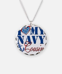 I Love My Navy Cousin Necklace