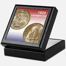 1925 Lexington-Concord Half Dollar Mo Keepsake Box