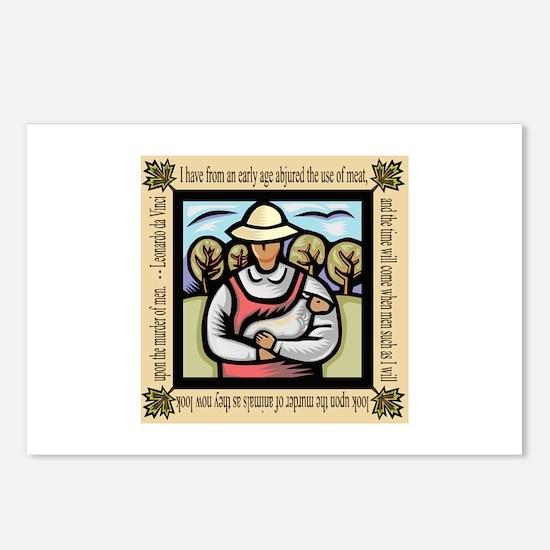 Vegetarian da Vinci Quote Postcards (Package of 8)
