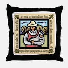 Vegetarian da Vinci Quote Throw Pillow