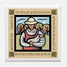 Vegetarian da Vinci Quote Tile Coaster