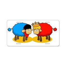 Sheep Merlin and Arthur Aluminum License Plate
