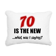 70 Is The New Rectangular Canvas Pillow
