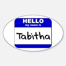hello my name is tabitha Oval Decal