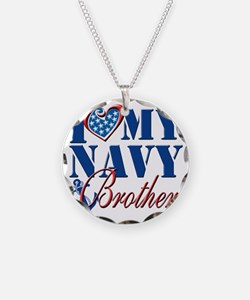 I Love My Navy Brother Necklace