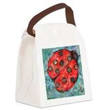 Lady Bug Canvas Lunch Bag