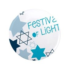 """Festival Of Lights 3.5"""" Button"""