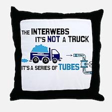 Internet Tubes, Not A Truck Throw Pillow