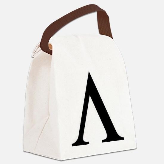 Greek Lambda Spartan Symbol Canvas Lunch Bag