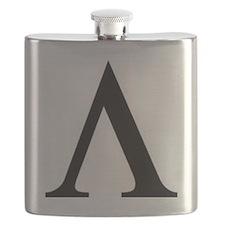 Greek Lambda Spartan Symbol Flask