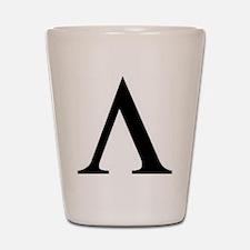 Greek Lambda Spartan Symbol Shot Glass