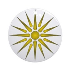 Macedonia Vergina Star Round Ornament