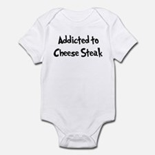Addicted to Cheese Steak Infant Bodysuit