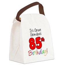 Great Grandpas 85th Birthday Canvas Lunch Bag