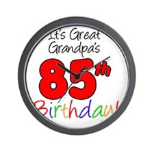 Great Grandpas 85th Birthday Wall Clock