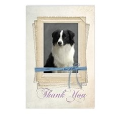 Border Collie Thank You Postcards (Package of 8)