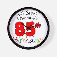 Great Grandmas 85th Birthday Wall Clock