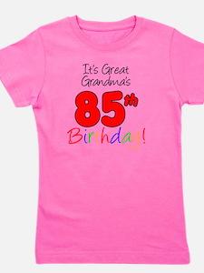 Great Grandmas 85th Birthday Girl's Tee