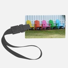 Rainbow of adirondack chairs Luggage Tag