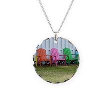 Rainbow of adirondack chairs Necklace