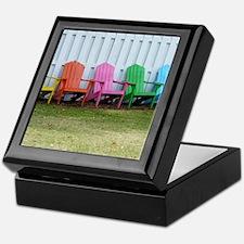 Rainbow of adirondack chairs Keepsake Box