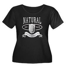 Natural  Women's Plus Size Dark Scoop Neck T-Shirt