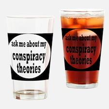 conspiracybutton Drinking Glass
