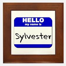 hello my name is sylvester  Framed Tile
