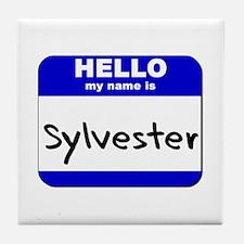 hello my name is sylvester  Tile Coaster