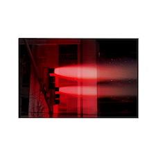 Red Lights Exploding Rectangle Magnet