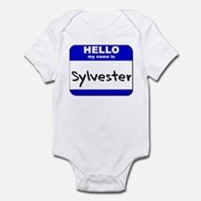 hello my name is sylvester  Infant Bodysuit