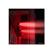 """Red Lights Exploding square Square Sticker 3"""" x 3"""""""