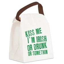 Kiss Me Im Irish, Funny, Canvas Lunch Bag