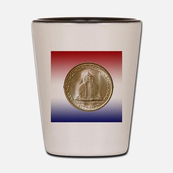 1925 Lexington-Concord Half Dollar Reve Shot Glass