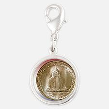 1925 Lexington-Concord Half Do Silver Round Charm