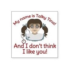"Twilight Zone Talky Tina Square Sticker 3"" x 3"""