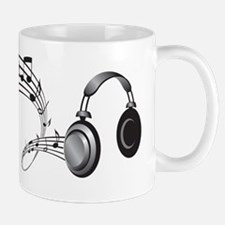 Headphones and Music Notes - Music Shir Mug