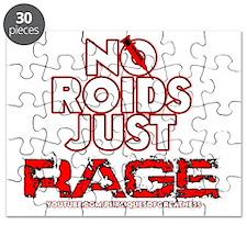 No Roids Just Rage (Black) Puzzle