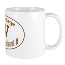 OV oval sticker Mug