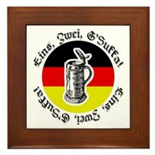 Oktoberfest Bier Framed Tile