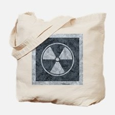 Distressed Gray Radiation Symbol Tote Bag