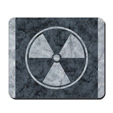 Distressed Gray Radiation Symbol Mousepad