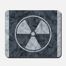 Distressed Gray Radiation Symbol Mousepad