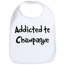 Addicted to Champagne Bib