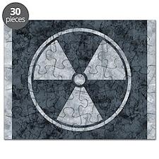 Distressed Gray Radiation Symbol Puzzle