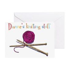 Diannes knitting stuff Greeting Card