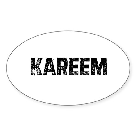 Kareem Oval Sticker