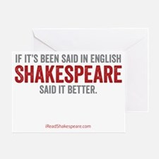 If its been said in English, Shakesp Greeting Card